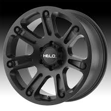 100 Helo Truck Wheels HE904 Satin Black Custom Rims Custom Rims