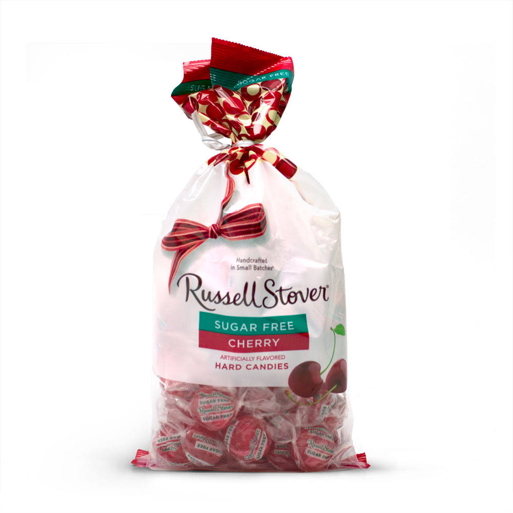 Russell Stover Sugar Free Cherry Hard Candies 12 oz Bag