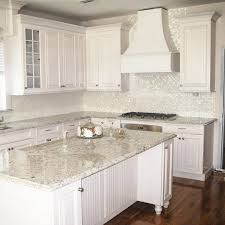 Mother Of Pearl Large Subway Tile by Classic Kitchen With Octagon Mother Of Pearl Mosaic Backsplash