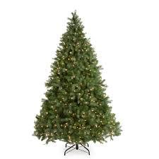 Pre Lit Pencil Christmas Tree 7 Ft by Downswept Douglas Fir Medium Pre Lit Christmas Tree Hayneedle