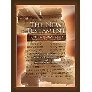 The New Testament In Original Greek Byzantine Textform 2005 With Direct Verse Jump