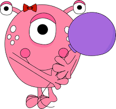 Pink Monster Holding a Balloon