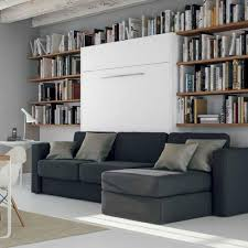 canap avec biblioth que int gr e armoire lit escamotable avec canapé intégré au meilleur prix inside75