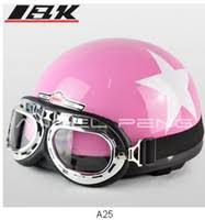 Get Quotations 2014 New Scooter Half Face Vespa Motorcycle Open Cycling PURE PINK Helmet Goggles Free