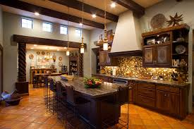 Western Cowgirl Chic Kitchen Remodel With Knotty Alder Black Glaze Cabinets Stamped Tin Door