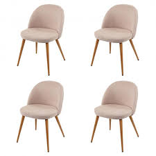4x esszimmerstuhl hwc d53 stuhl küchenstuhl retro 50er jahre design stoff textil beige
