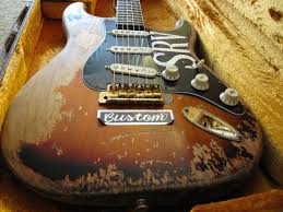 SRV 1 A 62 63 Strat Used By Stevie Ray Vaughan For Most Of His Career Rebuilt Several Times It Had Curved Rosewood Fingerboard And Was Refretted So