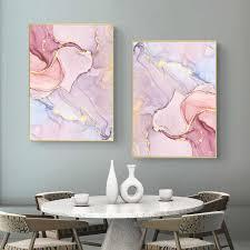 abstrakte aquarell bild marmor poster wand kunst leinwand