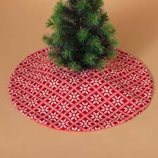 Mini Knitted Snowflake Tree Skirt Christmas Trees