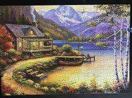 Cabin on the Lake 1000 pieces all the same shape Jigsawpuzzles