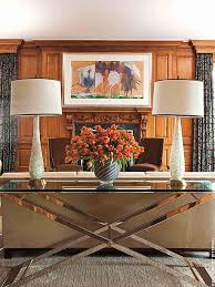 David Scott Interiors Design Features A Striking Mirrored Table