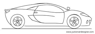 Easy Car Drawing Tutorial For Children Sports Car Side View