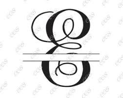 Split monogram e