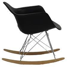 Ebay Rocking Chair Nursery by Amazon Com Modway Molded Plastic Armchair Rocker In Black