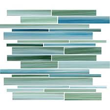 sle rip curl green and blue painted linear glass mosaic