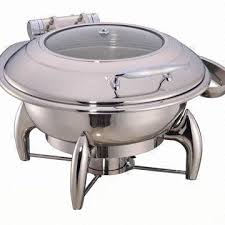 6L Round Hydraulic Induction Chafing Dish China