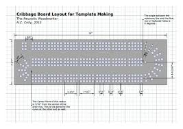 Cribbage Board Template Another Cool Idea Pinterest