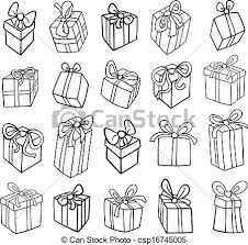 How To Draw A Birthday Present Christmas Birthday Gifts Coloring Page Black And White Ideas