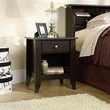 sauder shoal creek 1 drawer oiled oak nightstand 410412 the home