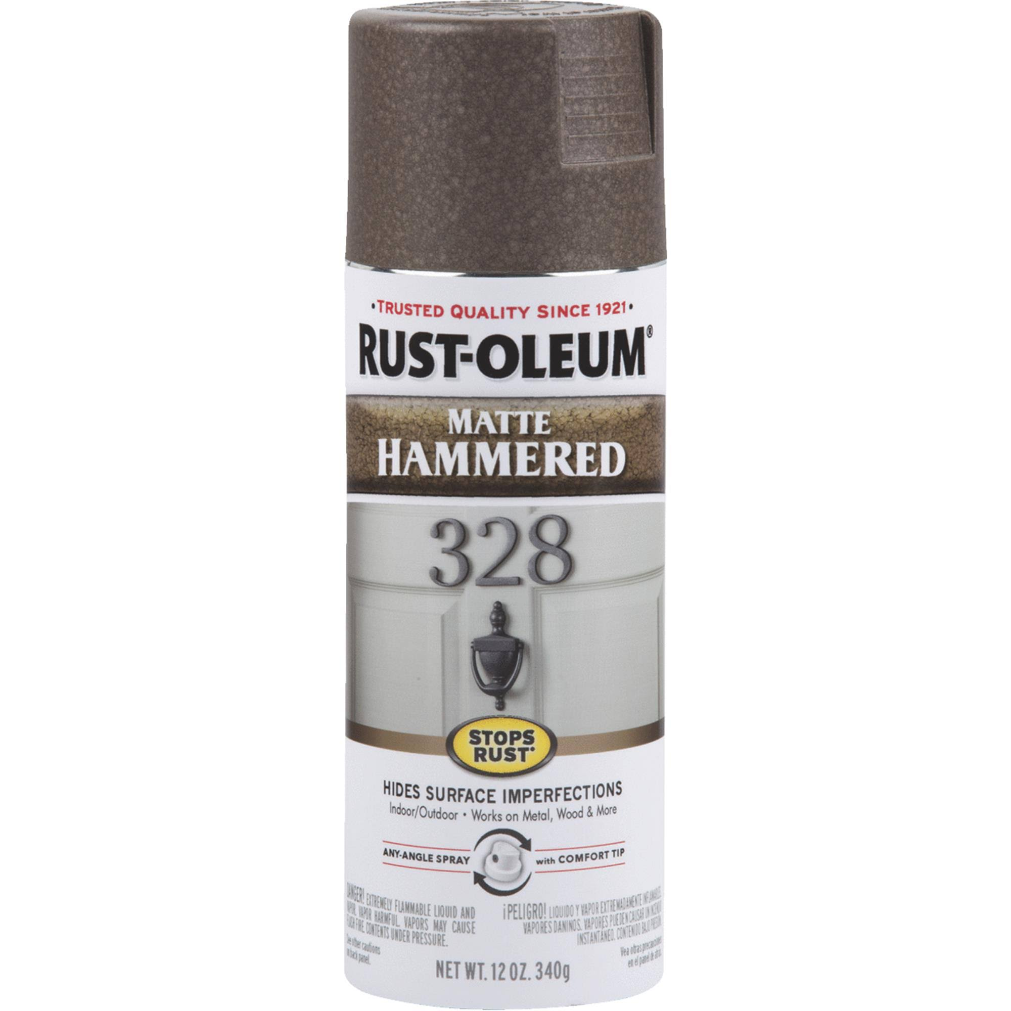 Rust-Oleum Hammered Matte Brown Spray Paint 12 oz.