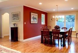 This Room Is Accented Because The Floor And Back Wall Are Light Brown Then Chairs A Dark Red