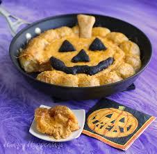 Vomiting Pumpkin Dip by Skillet Buffalo Chicken Dip Jack O Lantern