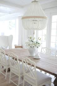 All White Dining Room Neutral With Reclaimed Wood