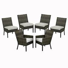 grand resort 6 pc monterey collection dining chair set grey
