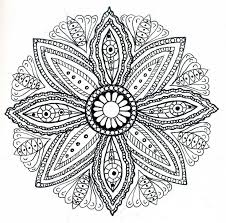 Hippie Coloring Pages Mandala