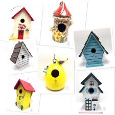 Decorative Bird Houses Wooden Ceramic Metal Chain Hanger Rustic New