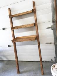 ana white build a leaning bathroom ladder over toilet shelf