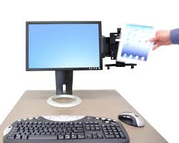 Ergotron Lx Desk Mount Lcd Arm Amazon by Tablet Mount Tablet Cradle For Any Sized Tablet With Arm Ergotron