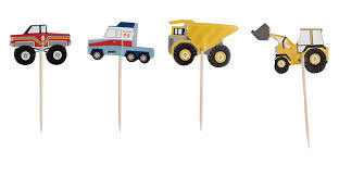 100 Toppers For Trucks Amazoncom Car Cupcake 200Piece Construction Themed