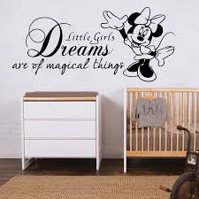 Ebay Wall Decor Quotes by Minnie Mouse Wall Sticker Quote Disney Girls Bedroom Art Decal