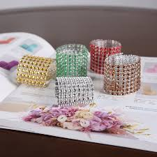 Diy Chair Sash Buckles by 20pcs Color 8row Diamond Mesh Rhinestone Bow Covers Holders