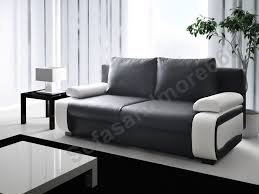 Poundex Black Twin Size Leather Sofa Steal Unfor table