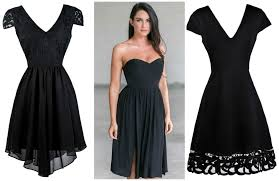 color coded cute black dresses lilyboutique