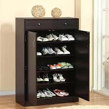 Baxton Studio Shoe Cabinet by Wooden Shoe Storage Cabinet 3 Racks Ikea Shoe Storage Cabinet With