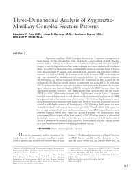 Orbital Floor Fracture With Entrapment by Three Dimensional Analysis Of Zygomatic Maxillary Complex Fracture