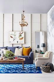 wohnzimmer in blau und weiß mit bild kaufen 12351770