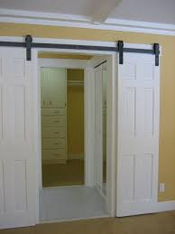 Double Sliding Barn Door Track • Barn Door Ideas How To Mount A Barn Door Using Tc Bunny Hdware From Amazon Doors Looks Simple And Elegant Lowes Rebecca Interior Sliding Locks For Bypass Pulley Asusparapc Suppliers And Manufacturers At Track Wheel Roller Pair Ironandalloy Pulleys Modern A Small Closet This Is The Industrial Minimalist Sliding Barn Doors Ideas For The House To Get Privacy Add Lock Your