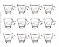 Engraved Espresso Shot Glasses One Dozen