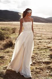 Discount Vintage Lace Lurelly Beach Wedding Dresses Spaghetti A Line