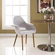 Transitional Living Room Chairs by Amazon Com Modway Aegis Dining Armchair Light Gray Chairs