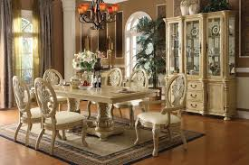 Antique White Dining Room Of Good Table And Chairs Cool