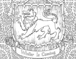 The Official GAME OF THRONES Coloring Book Is Here