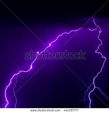 Strong Lightning Bolt Strike Real Photo