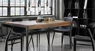 Update The Look Of You Dinning Room With This Solid Walnut Table Black Metal Available In A Variety Sizes Made Quebec
