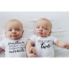 Miracle Twins Onesies Baby Twin Baby Boys Newborn Twins