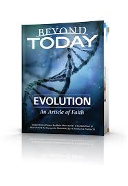 Evolution An Article of Faith